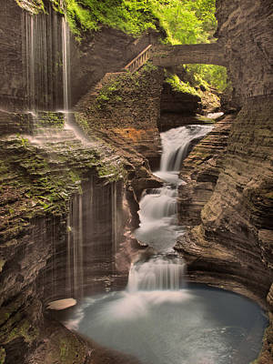 Poster featuring the photograph Watkins Glen Gorge by Cindy Haggerty
