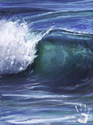 Wave 5 Poster by Lisa Reinhardt