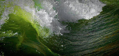 Poster featuring the photograph Wave In Motion by Atom Crawford