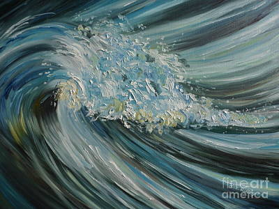 Poster featuring the painting Wave Whirl by Julie Brugh Riffey