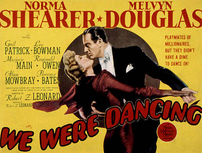 We Were Dancing, Norma Shearer, Melvyn Poster