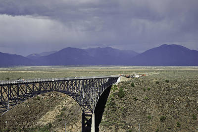Weather At The Rio Grande Gorge Bridge Poster by Melany Sarafis