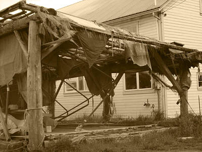 Weathered And Blown To Pieces Poster by Kym Backland