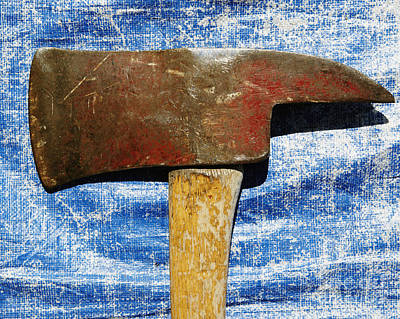 Weathered Ax Poster by Skip Nall