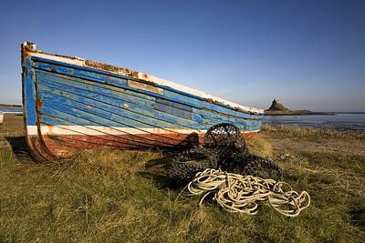 Weathered Fishing Boat On Shore, Holy Poster by John Short