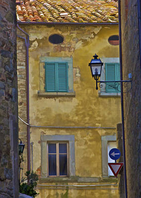 Weathered Home Of Tuscany Poster