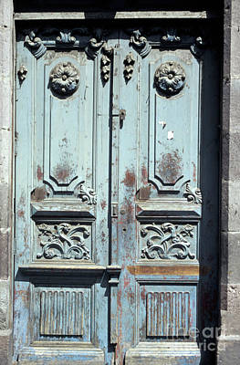 Poster featuring the photograph Weathered Quito Door Ecuador by John  Mitchell
