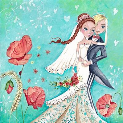 Wedding Day Poster by Caroline Bonne-Muller