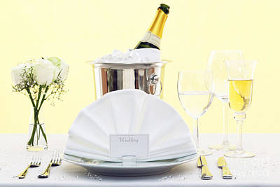 Wedding Table Place Setting  Poster by Richard Thomas