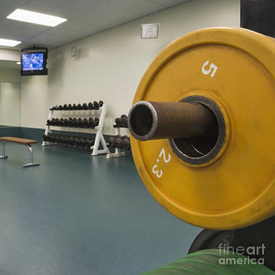 Weights In A Weight Room Poster