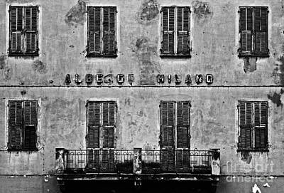 Poster featuring the photograph Welcome To The Hotel Milano by Andy Prendy