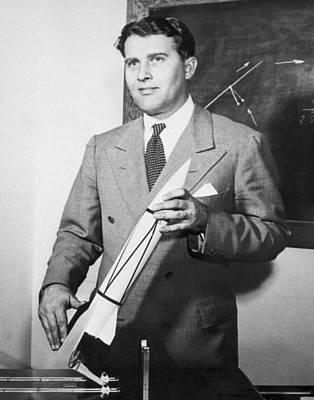 Wernher Von Braun, German Rocket Designer Poster