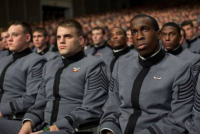 West Point Cadets Applaud President Poster