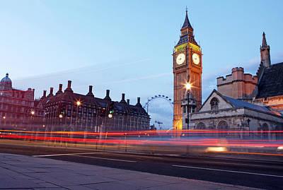 Westminster At Dusk Poster