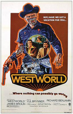 Westworld, Yul Brynner, James Brolin Poster by Everett