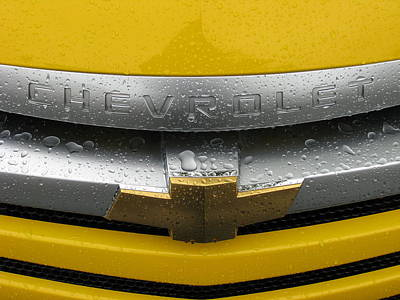 Wet Chevrolet Poster by Samuel Sheats