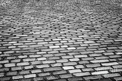 Wet Cobblestoned Huntly Street In The Union Street Area Of Aberdeen Scotland Uk Poster by Joe Fox