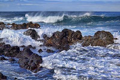 Wet Lava Rocks Poster