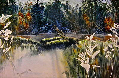 Poster featuring the painting Wetlands by Carolyn Rosenberger