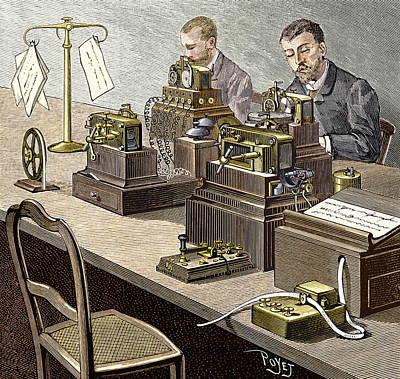 Wheatstone Telegraph System Poster