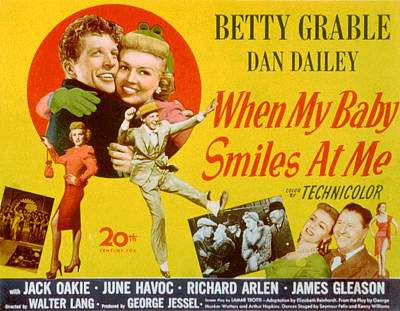 When My Baby Smiles At Me, Dan Dailey Poster by Everett