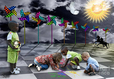 Poster featuring the digital art Where Do The Children Play? by Rosa Cobos