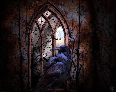 Where Raven Reigns Poster by Gun Legler
