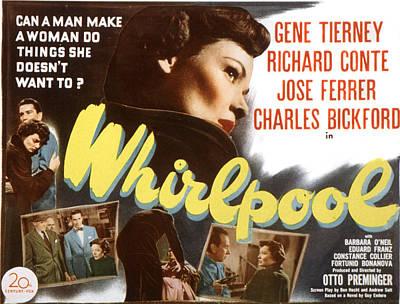 Whirlpool, Gene Tierney, 1949 Poster