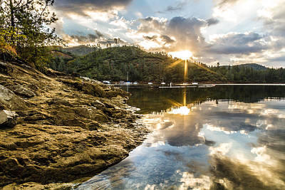Poster featuring the photograph Whiskeytown Lake Sunrise by Randy Wood