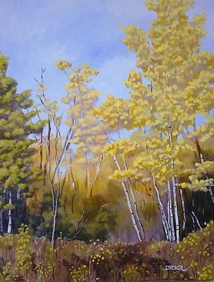 White Bark Yellow Leaves Poster by Robert Decker