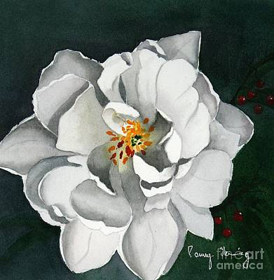 White Double Tulip Poster