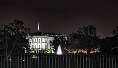 White House At Christmas Poster