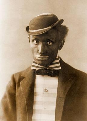 White Man In Blackface As Minstrel Poster by Everett