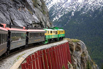 Poster featuring the photograph White Pass Train Ride by Laurel Talabere