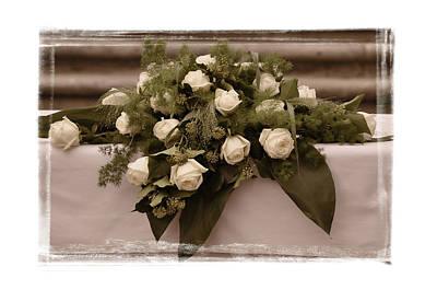 White Roses For The Wedding Poster