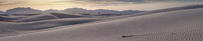Poster featuring the photograph White Sands Desert Panorama by Mike Irwin