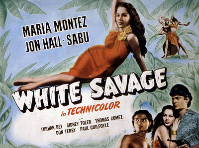 White Savage, Maria Montez, Sabu, Jon Poster by Everett