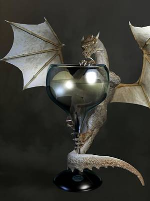 White Wine Dragon Poster