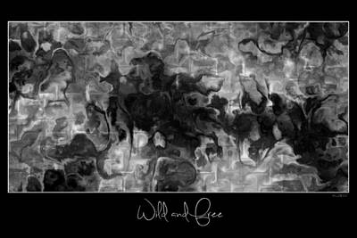 Poster featuring the digital art Wild And Free by Kim Redd