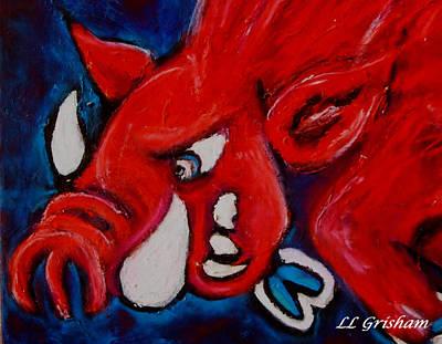 Wild Hog Poster by Laura  Grisham