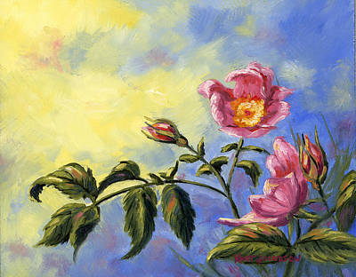 Poster featuring the painting Wild Rose by Kurt Jacobson