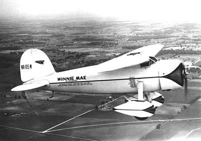 Wiley Posts Plane Winnie Mae Overhauled Poster by Everett