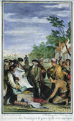 William Penns Treaty, 1682 Poster by Granger