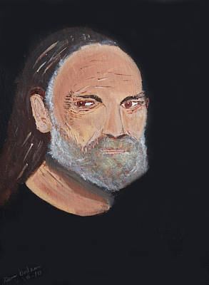 Willie Nelson In Black Poster by Swabby Soileau