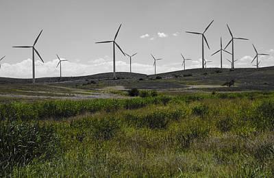 Wind Farm Iv Poster by Ricky Barnard