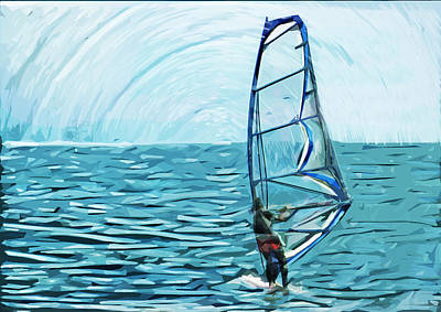 Wind Surfer Poster by Tilly Williams