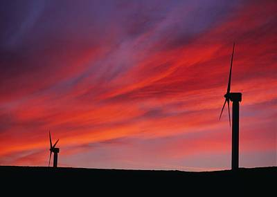 Wind Turbines Poster by Chris Knapton