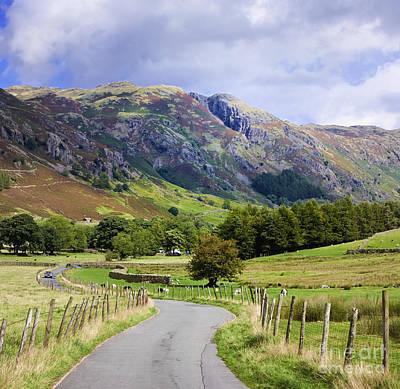 Winding Road, Langdale Valley, English Lake District, Uk Poster by Jon Boyes