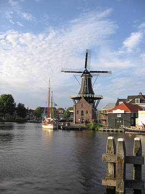 Poster featuring the photograph Windmill In The Nederlands by Karen Molenaar Terrell