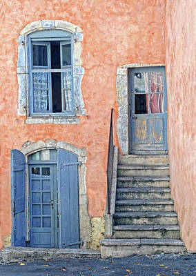 Poster featuring the photograph Window And Doors Provence France by Dave Mills